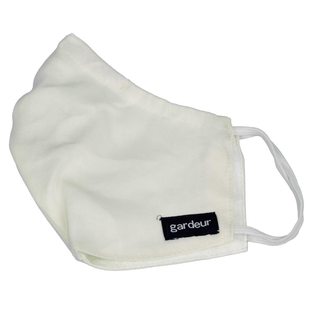 Gardeur Mund Nasen Maske Stoffmaske Alltagsmaske weiß unifarben Maske ecru