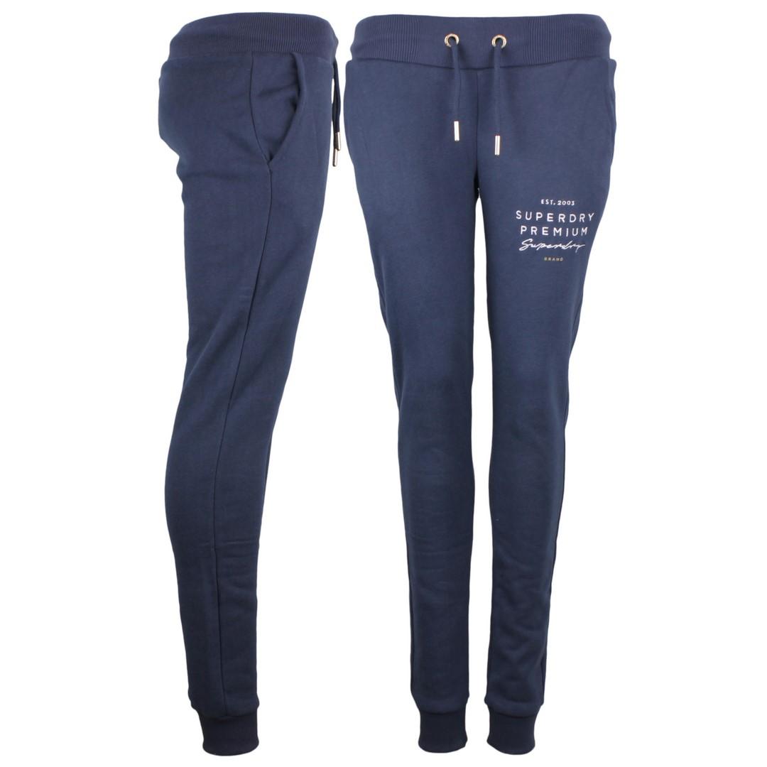 Superdry Damen Sweat Jogging Hose Applique blau W7000005A 11S navy