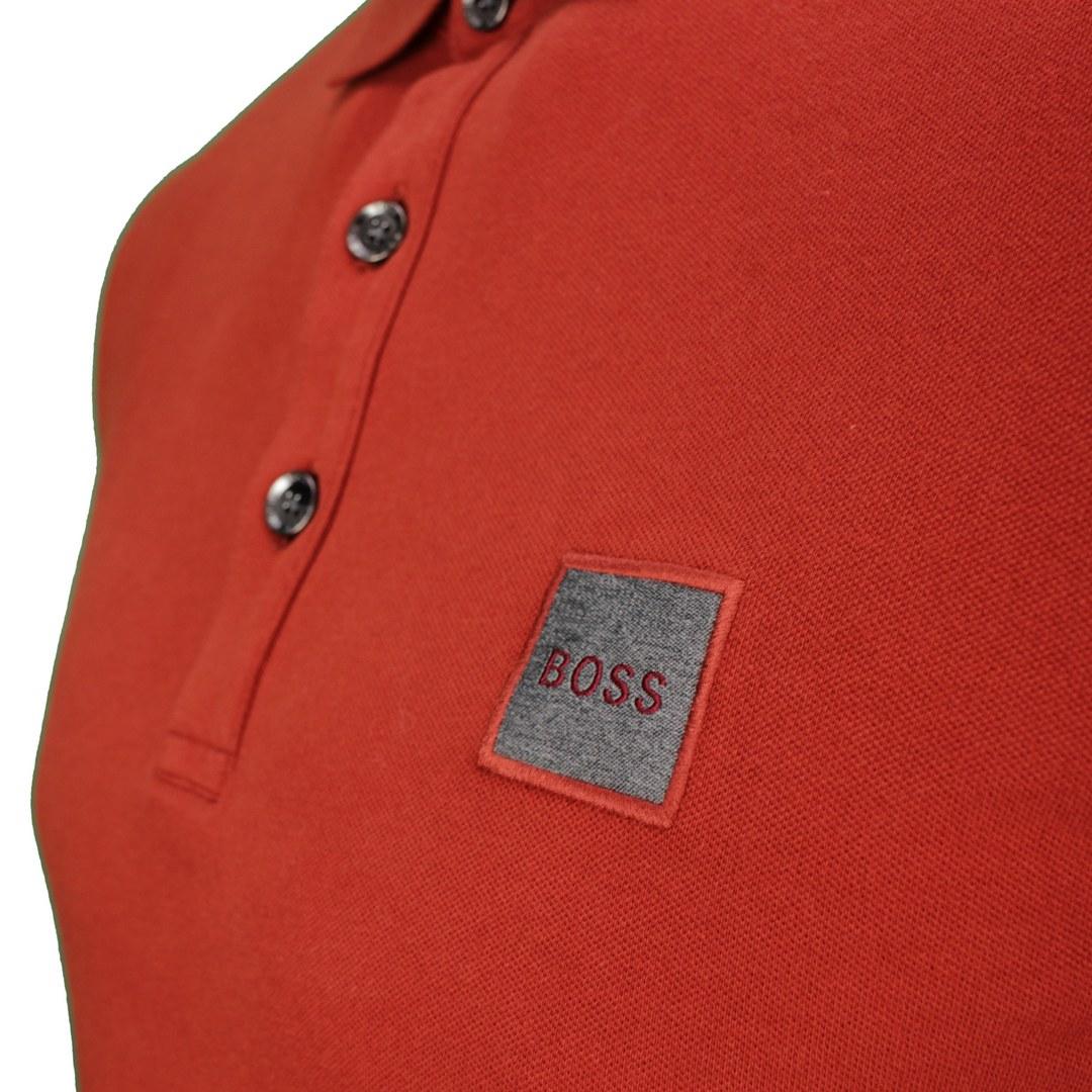Hugo Boss Rugby Shirt Langarm Shirt Langarmshirt rot Passerby 50462783 611 medium red