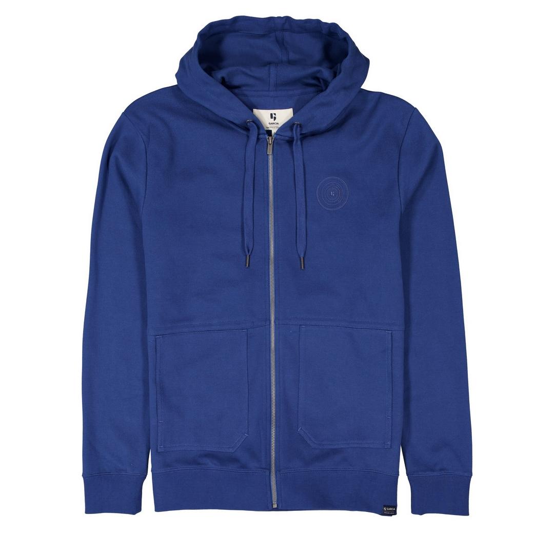 Garcia Sweat Jacke blau unifarben D11260 6632 imperial blue