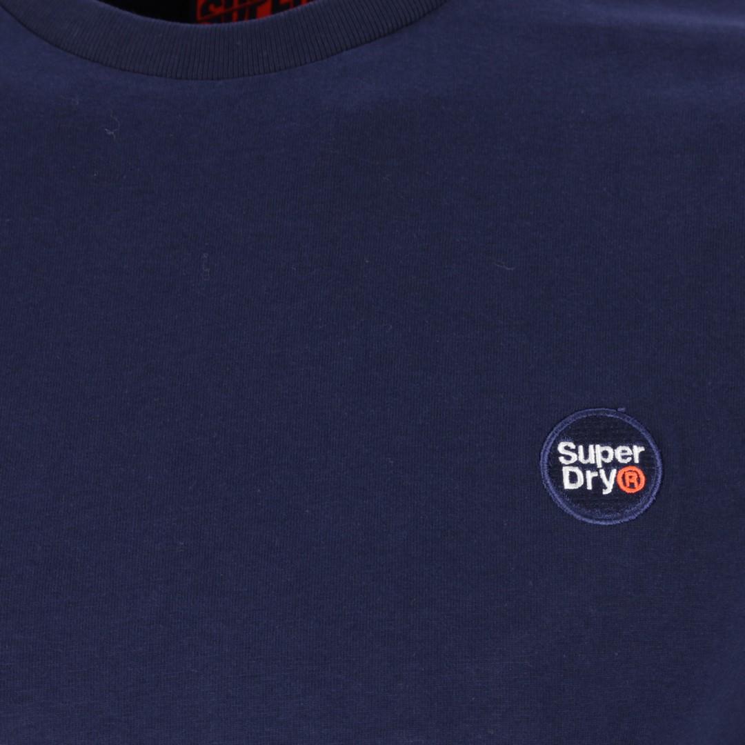 Superdry Herren langarm Shirt Collective Top blau M6010041A ADQ Rich Navy