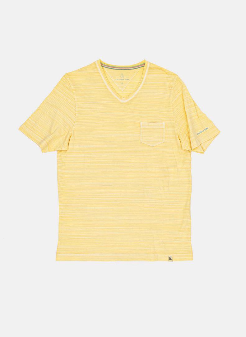 Colours & Sons T-Shirt gelb unifarben 9121 400 100