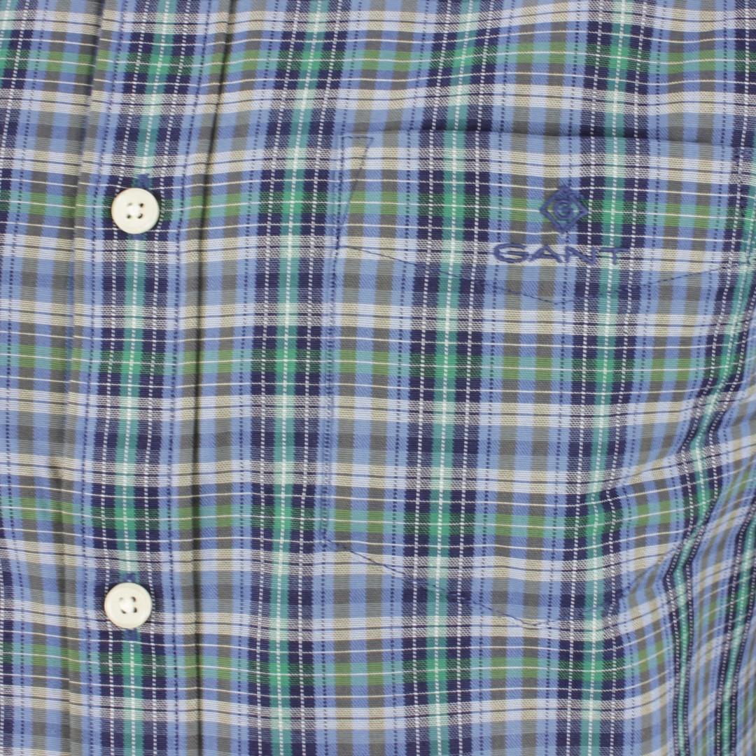 Gant Herren Freizeit Hemd Oxford Indigo mehrfarbig kariert 3016020 373 Ivy Green
