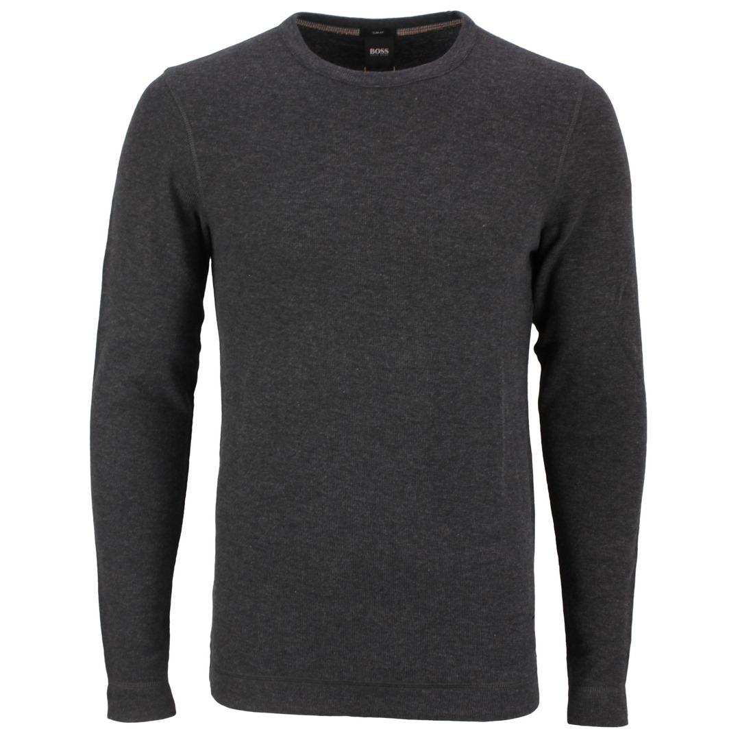 Hugo Boss Langarm Shirt Strick 50462773 001 black Tempest
