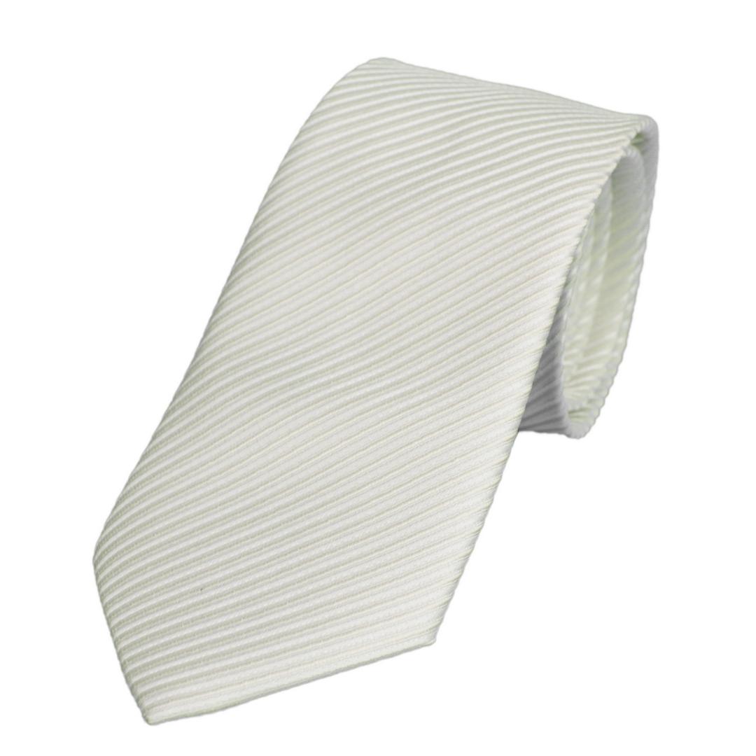 Krawatte Uni Muster 90157 1 ecru