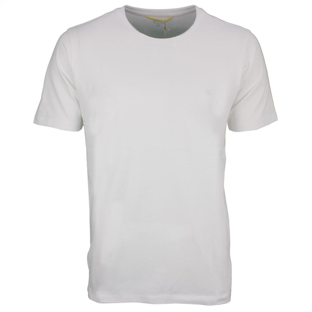 Camel active Herren T-Shirt Rundhals Basic weiß unifarben 9T19 409438 01