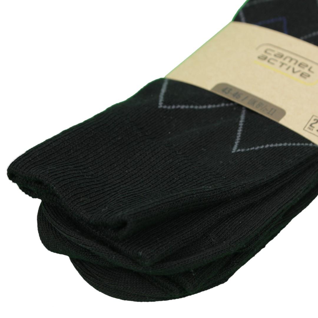 Camel active Socken Doppelpack schwarz Rauten Muster 6461 610