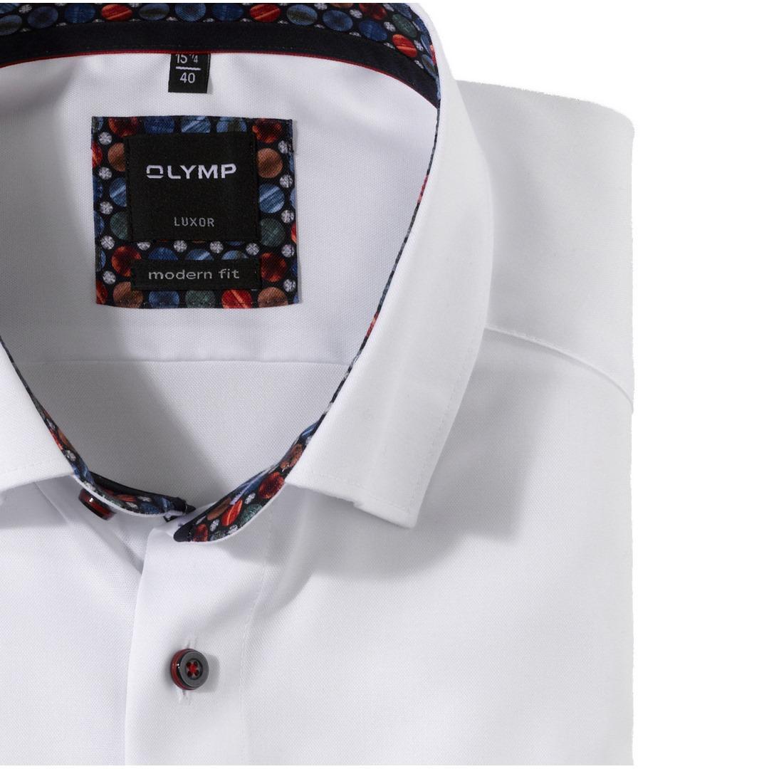 Olymp Luxor Modern Fit Langarmhemd Hemd Business weiß unifarben 132684 00