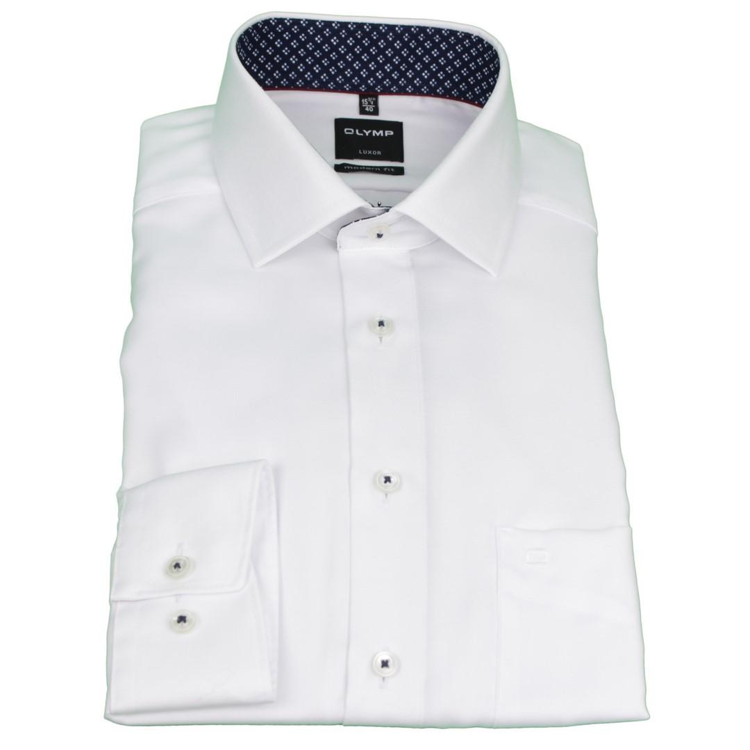 Olymp Modern Fit Hemd weiß unifarben 4887 03 00