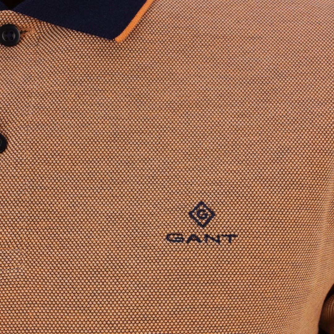 Gant Polo Shirt Oxford Pique Rugge orange strukturiert 2012012 806 russet orange