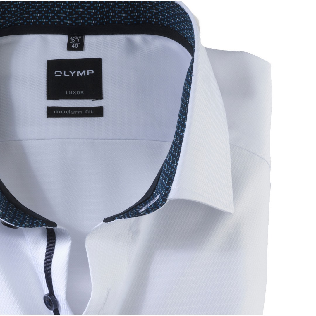 Olymp Luxor Modern Fit Herren langarm Hemd Anzughemd Business weiß 121564 00 weiss