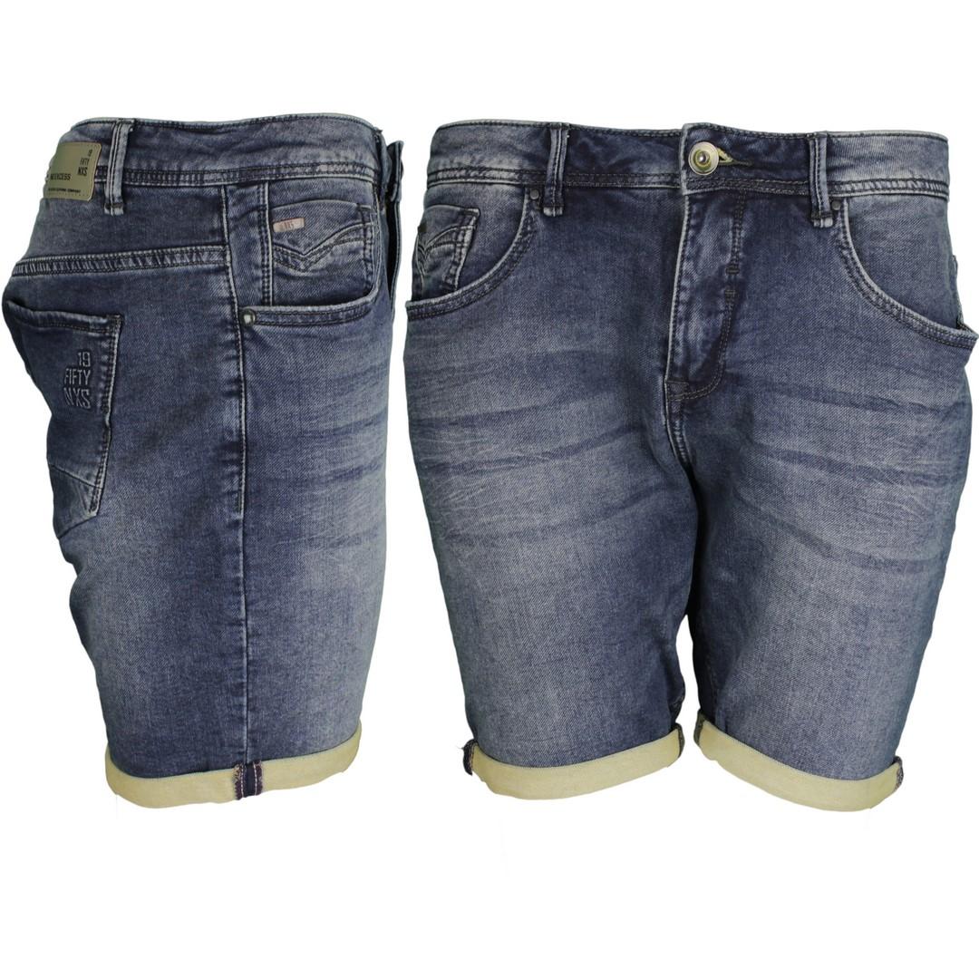 No Excess Herren Jeans Short Denim dunkel blau 908190410 220