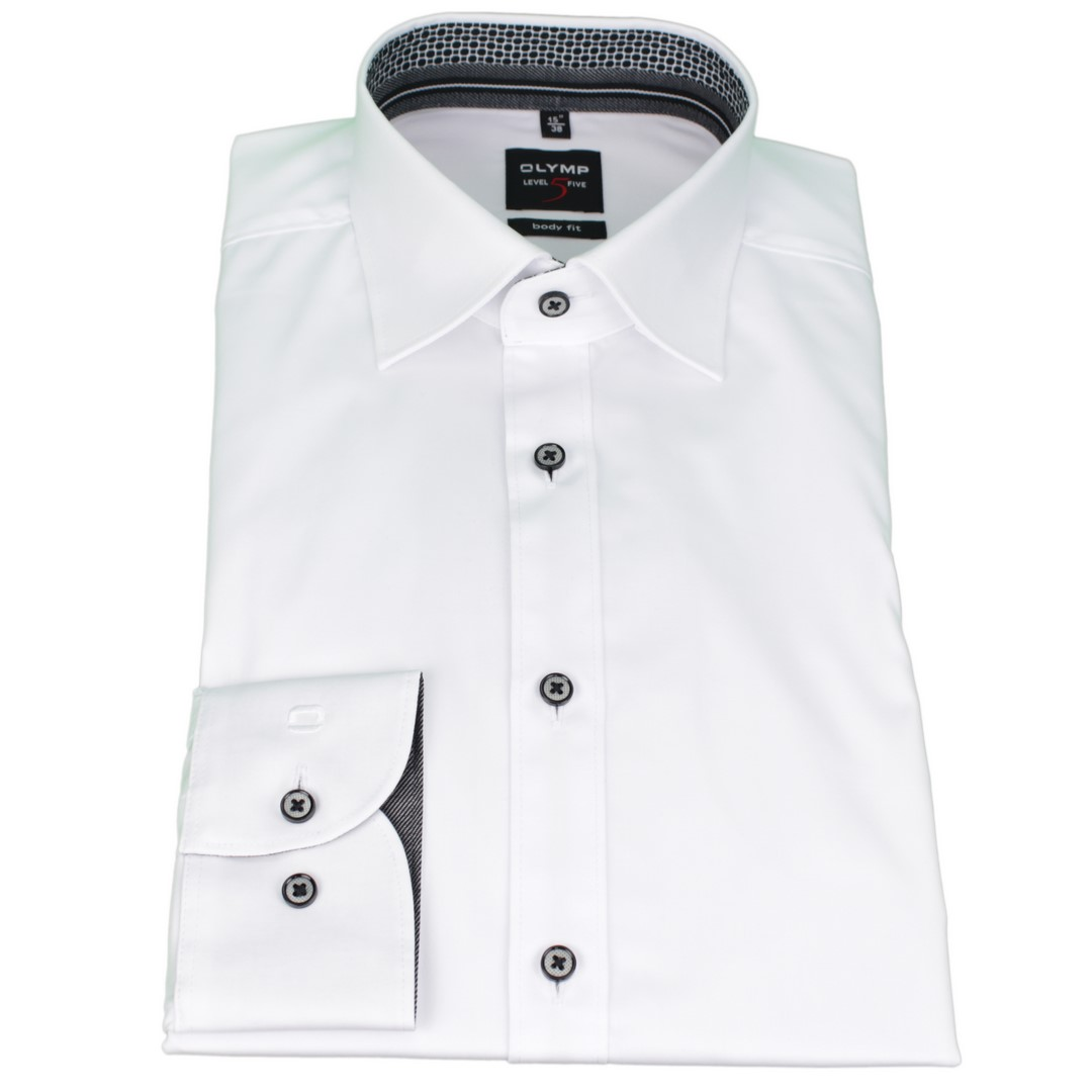 Olymp Body Fit Level 5 Hemd weiß unifarben 2082 44 00