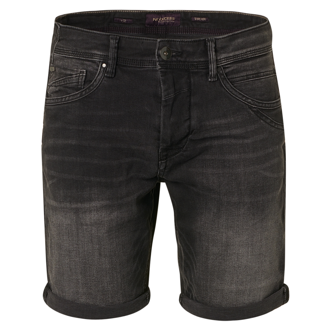 No Excess Jeans Short Ulitmate Stretch Shorts schwarz N819UX2 223 black Denim
