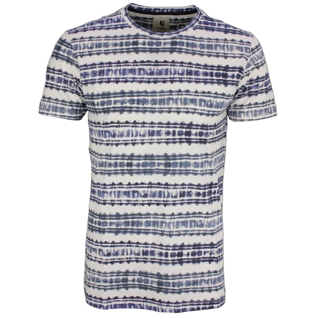 Garcia Herren T-Shirt mehrfarbig gemustert B11203 292 dark moon