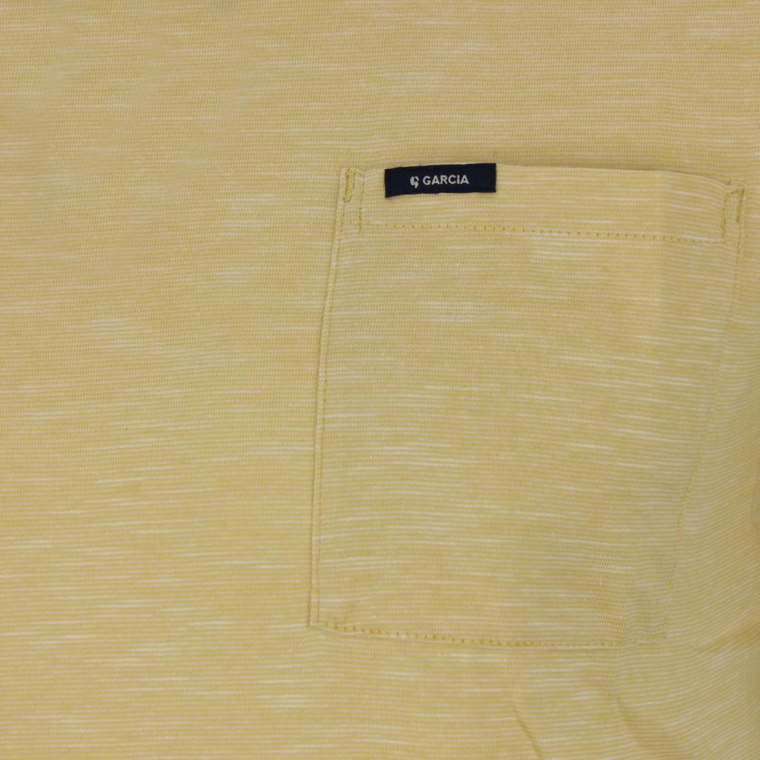 Garcia Herren T-Shirt gelb meliert GS010101 3073 yellow rock