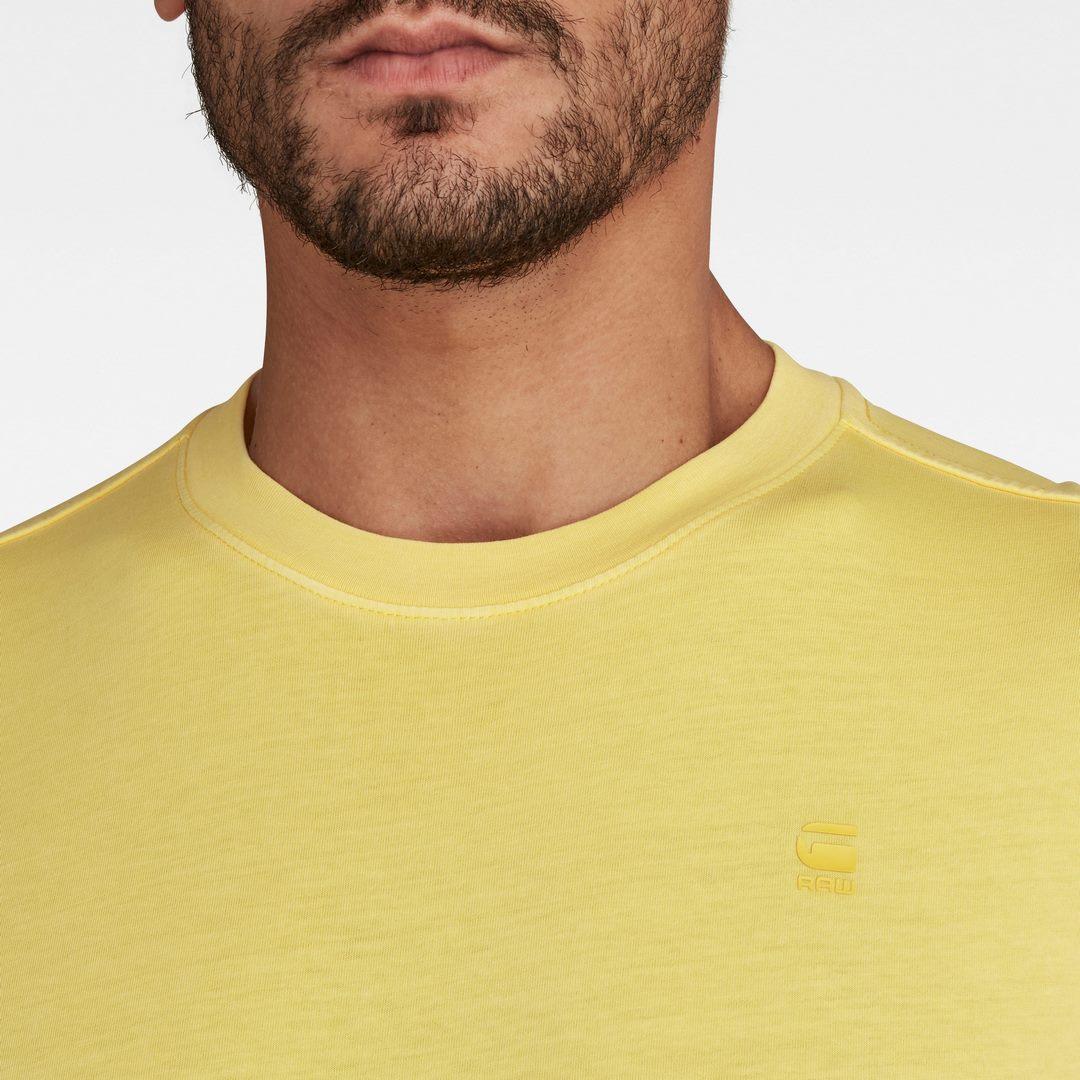 G-Star Raw Herren T-Shirt Lash Round Neck gelb unifarben D16396 2653 C403