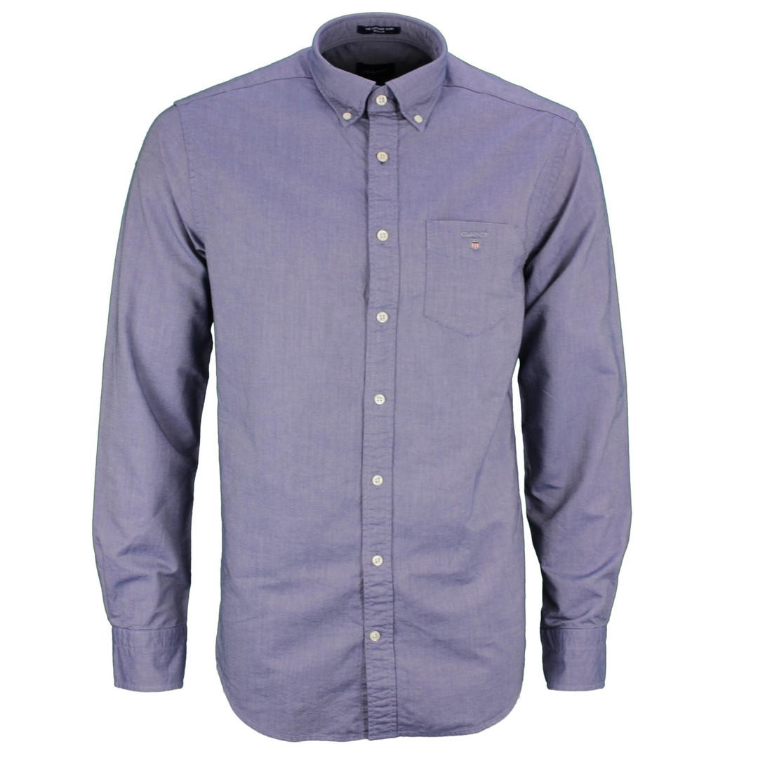 Gant Herren Freizeit Regular Fit Oxford blau unifarben 3046000 423 persian blue