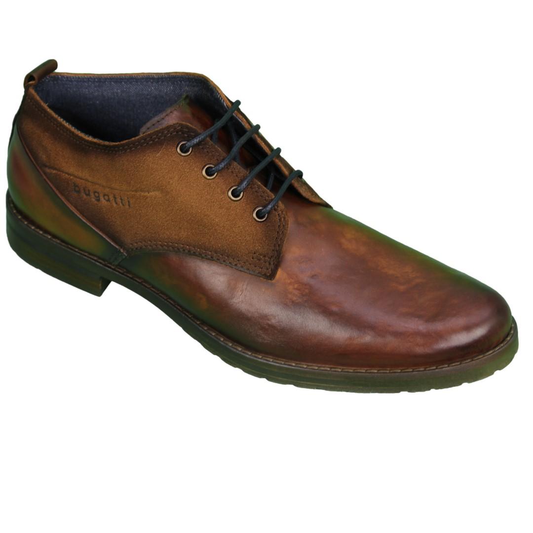 Bugatti Herren Schuhe Schnürschuhe Lussorio braun 311 81004 1100 6300 cognac