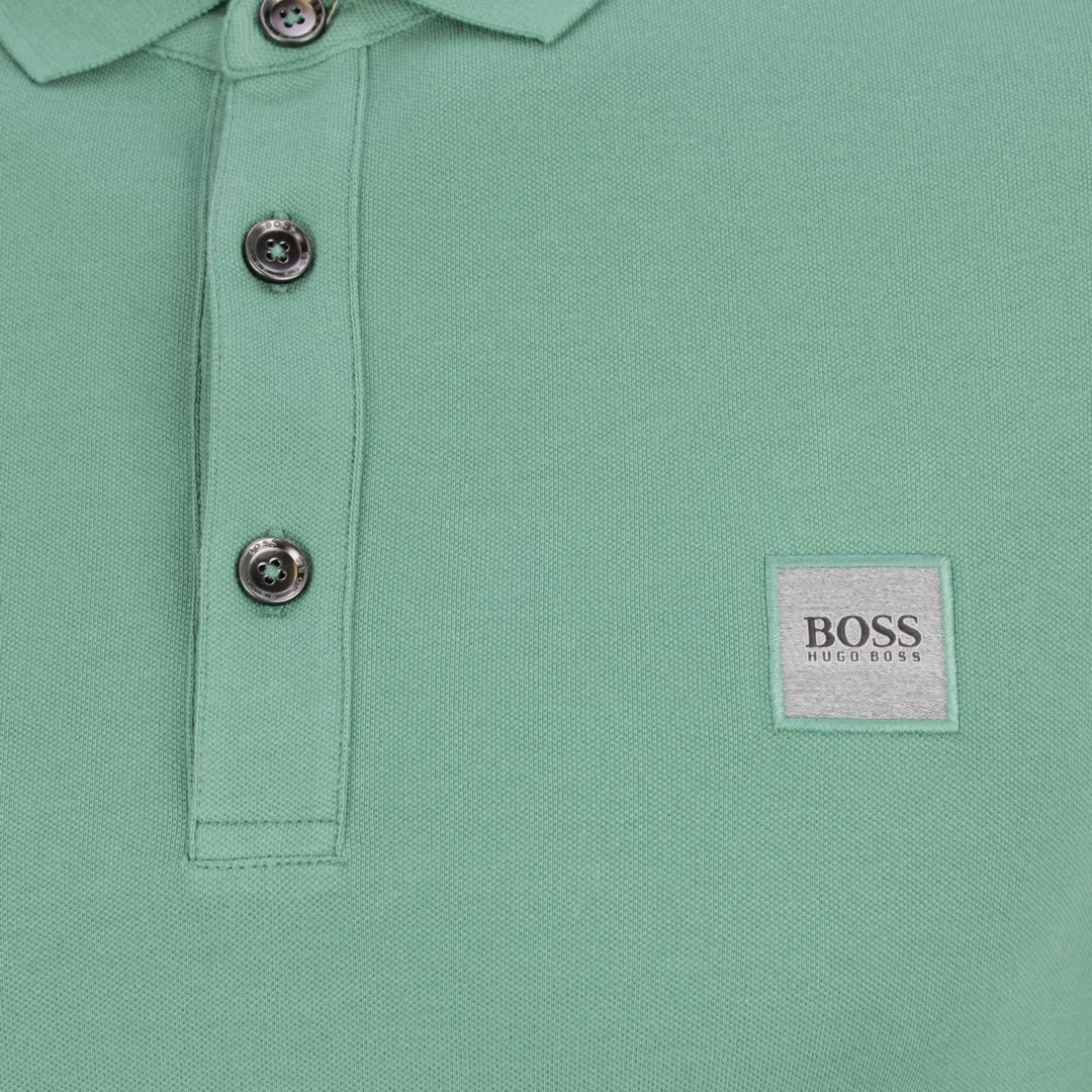 Boss Orange Herren Polo Shirt grün Unifarben Passenger 50378334 345