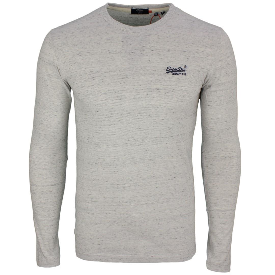 Superdry langarm Shirt OL Vintage EMB LS Top grau M6010122A 4DK Silver Birch