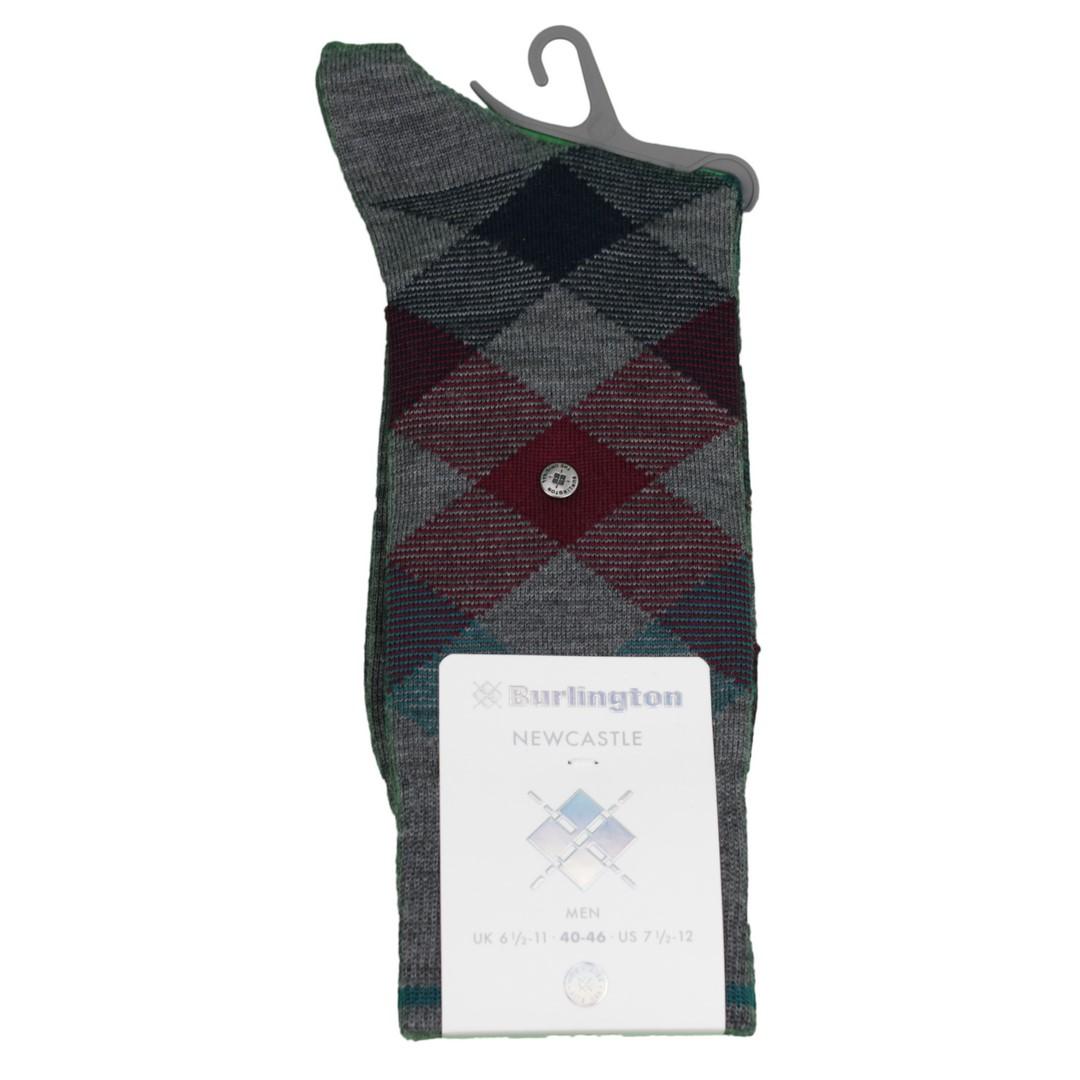 Falke Burlington Newcastle Socken Rauten Muster 21123 3072