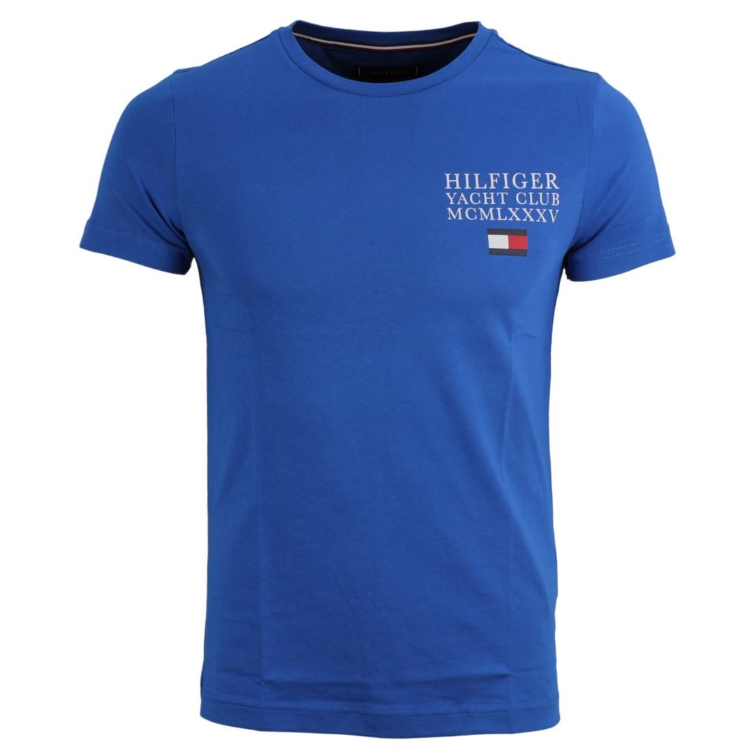 Tommy Hilfiger Herren T-Shirt blau unifarben MW0MW13347 C22