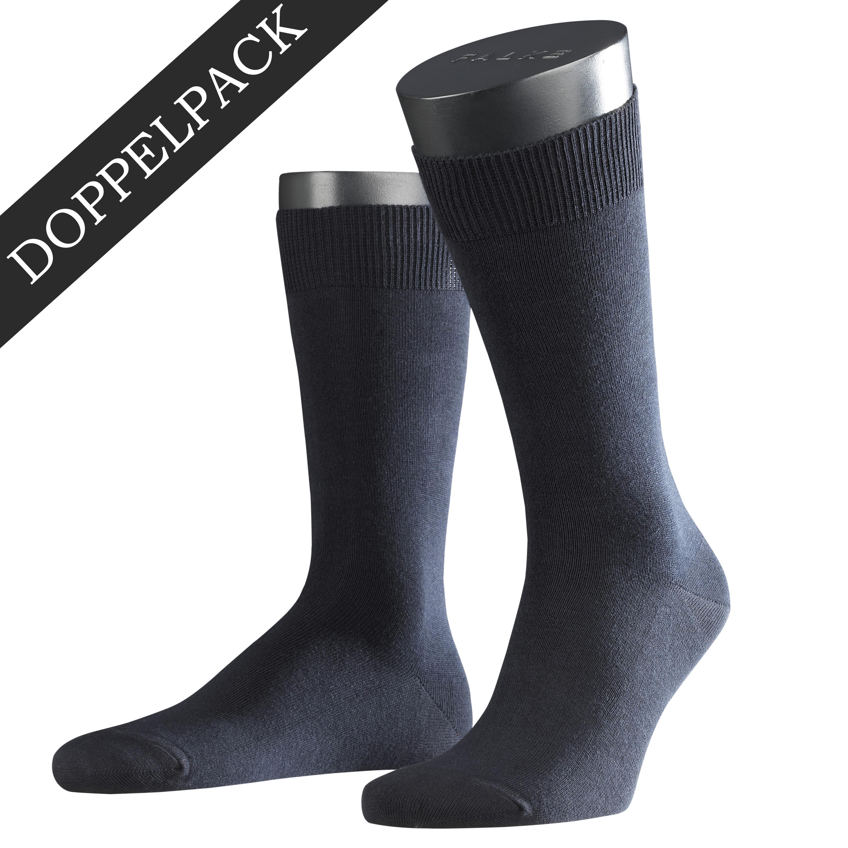 Falke Doppelpack Socke Swing marine blau 14633 - 6370 Basic Baumwolle