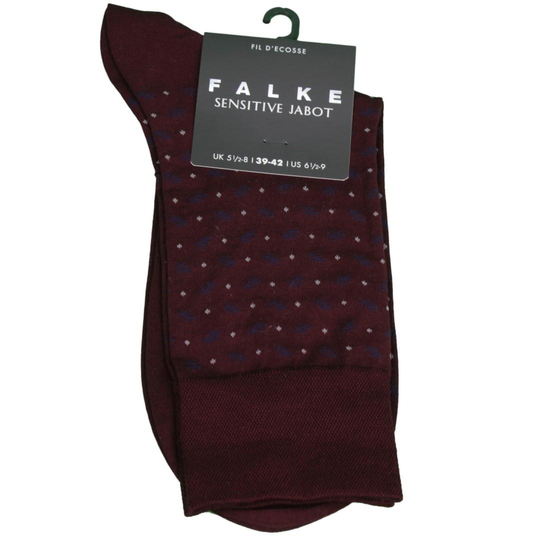 Falke Sensitive Socke Jabot rot gemustert 13344 8596