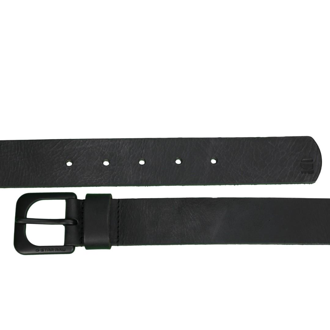 G-Star Raw Leder Gürtel Zed Belt schwarz D04169 3127 406
