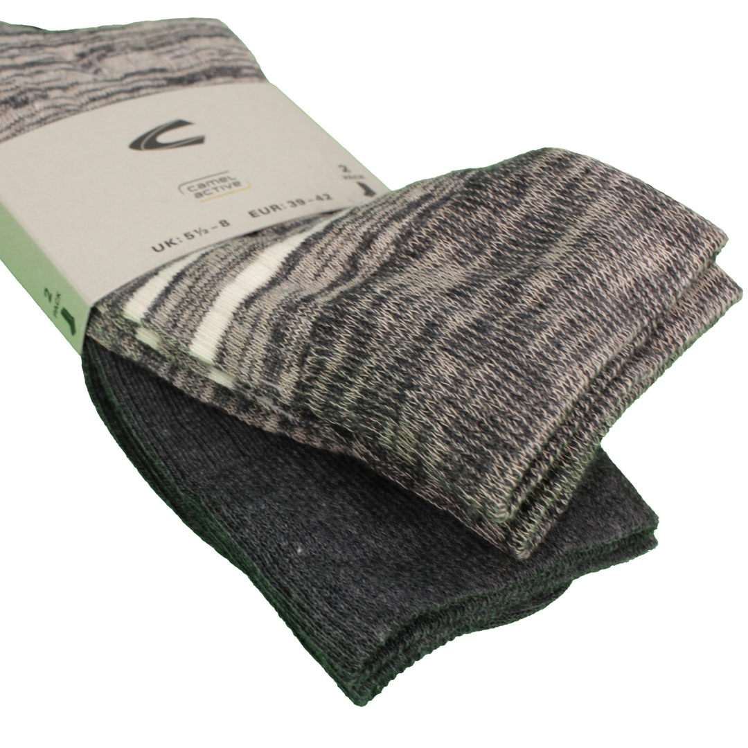 Camel active Socken Doppelpack grau 62116 620