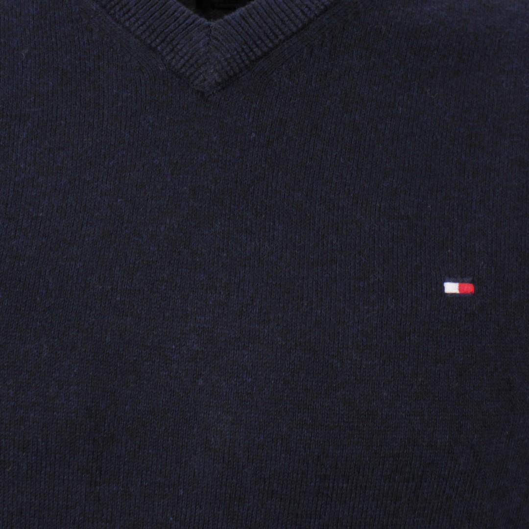 Tommy Hilfiger Herren Strick Pullover Pima Cotton Cashmere blau MW0MW11673 DV6