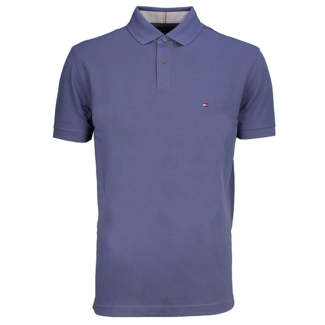 Tommy Hilfiger 1985 Regular Polo Shirt blau unifarben MW0MW17770 C9T Faded Indigo