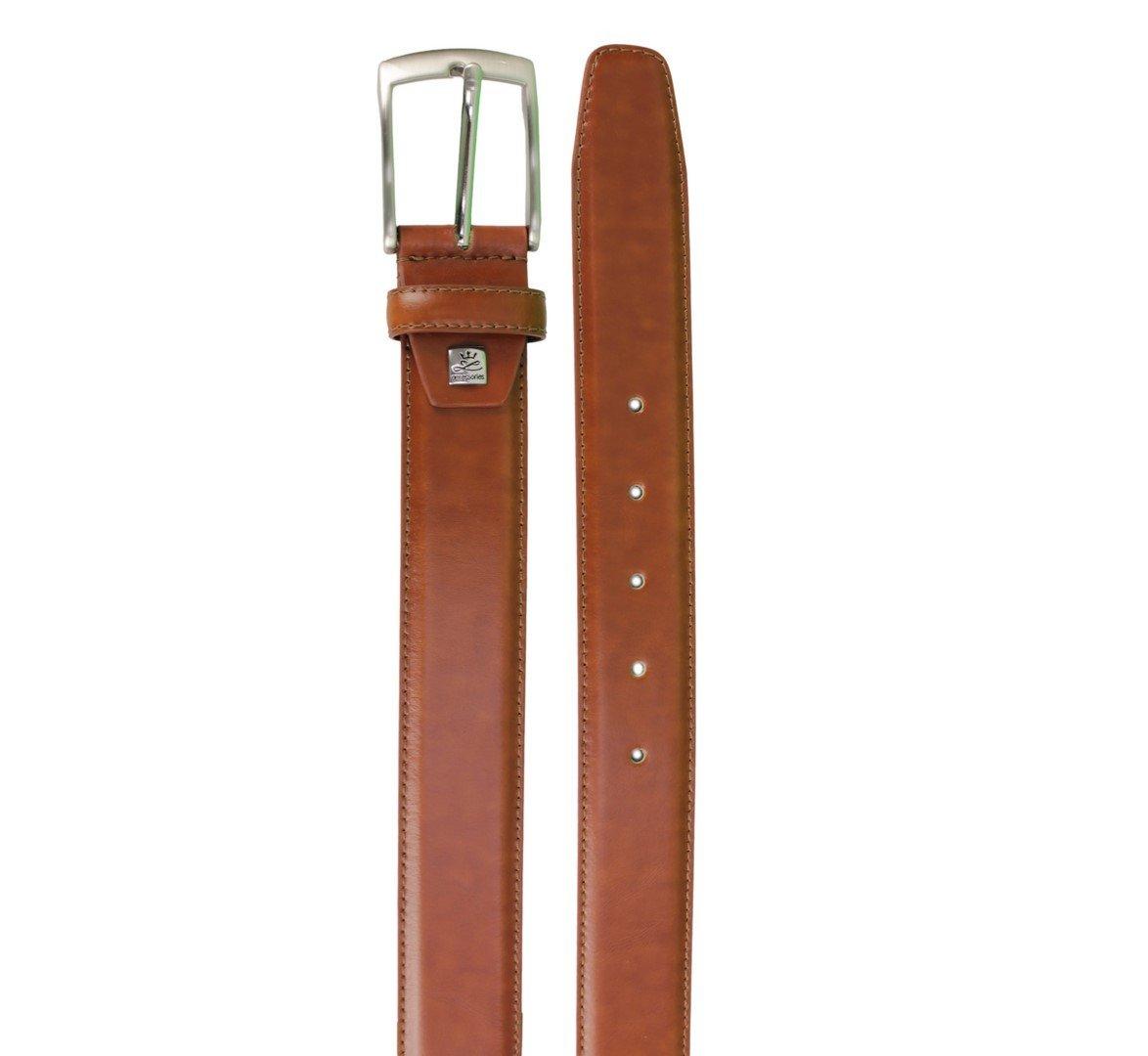 Lindenmann Herren Ledergürtel Anzug Gürtel Leder braun Cognac 1000980 022
