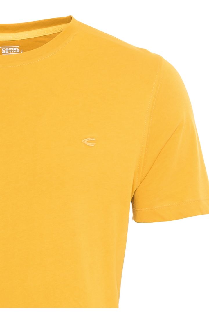 Camel active T-Shirt Organic Cotton Basic gelb unifarben 6T01 409641 60 gold
