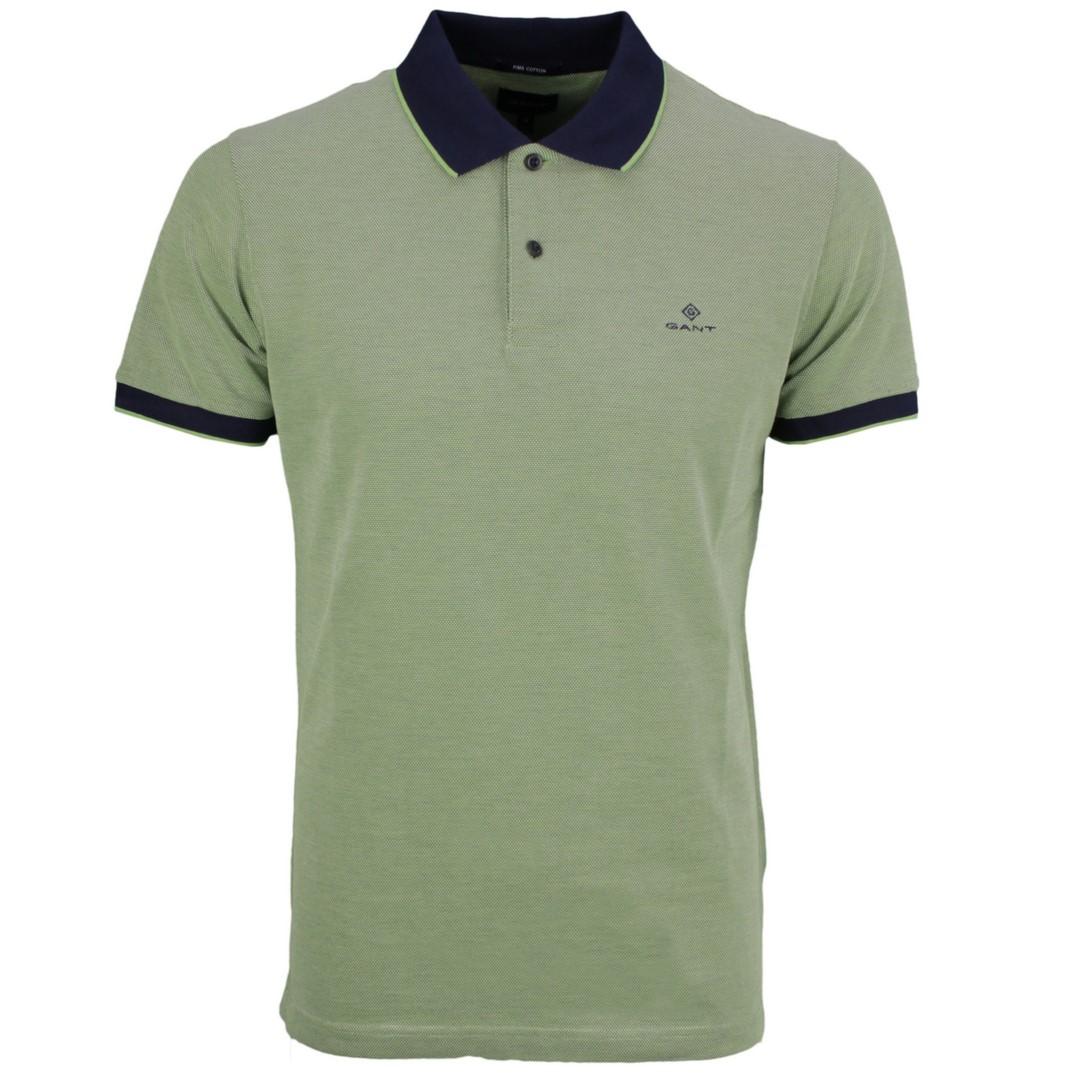 Gant Polo Shirt Oxford Pique Rugger grün strukturiert 2012012 330 foliage green