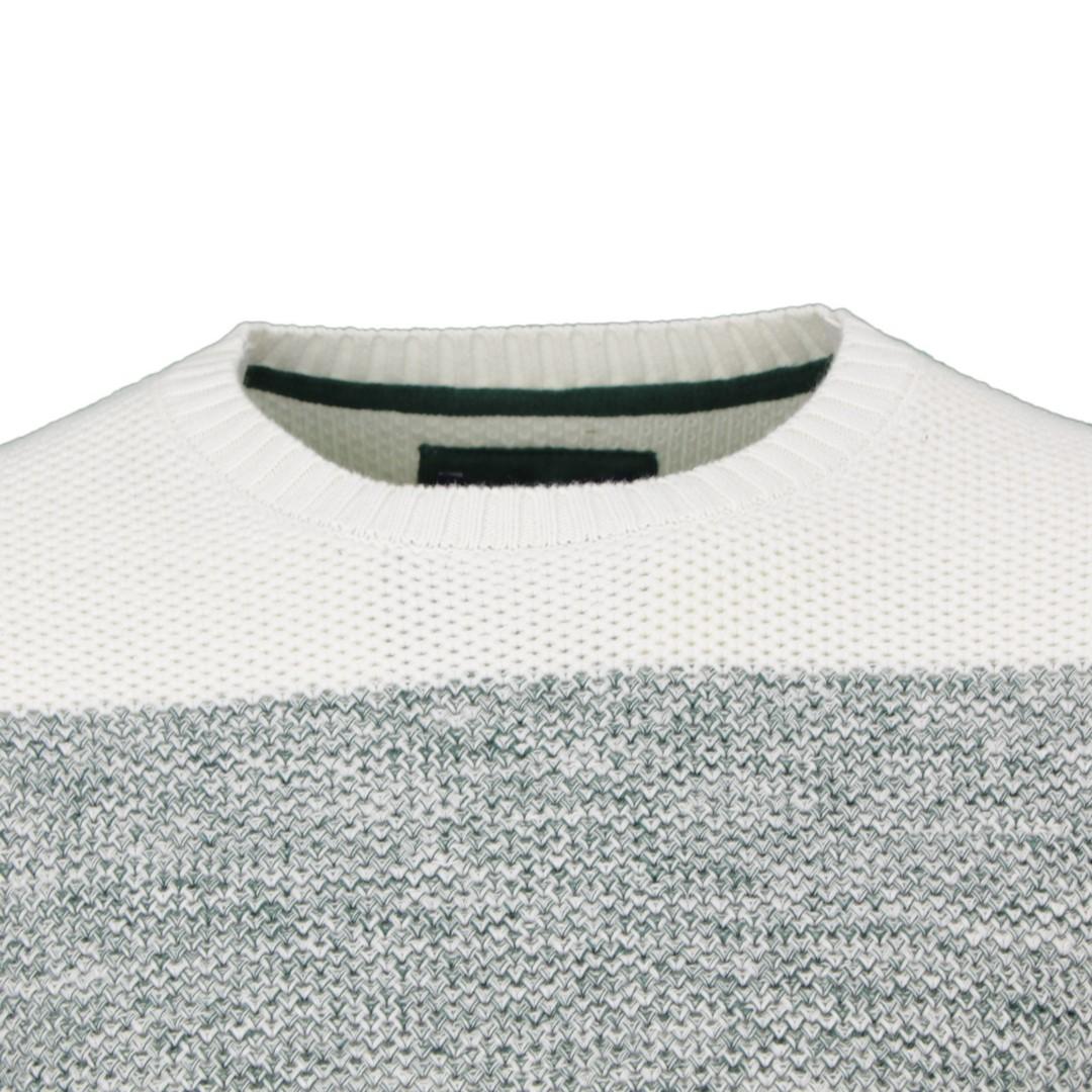 Colours & Sons Strick Pullover grün mehrfarbig gestreift meliert 9220 137 475
