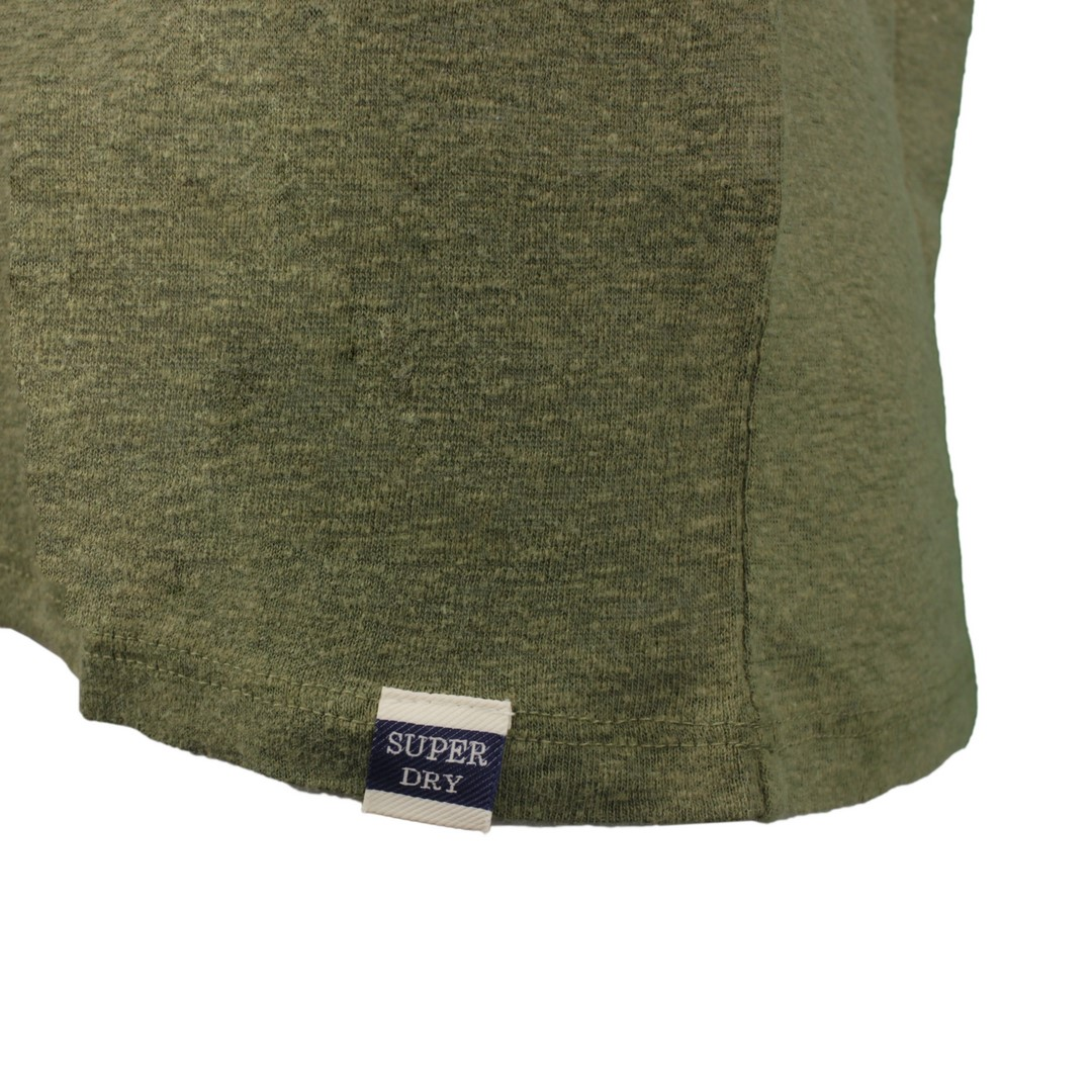 Superdry Damen Top Shirt Chevron Lace Vest Khaki grün W6010147A 6SX kaki