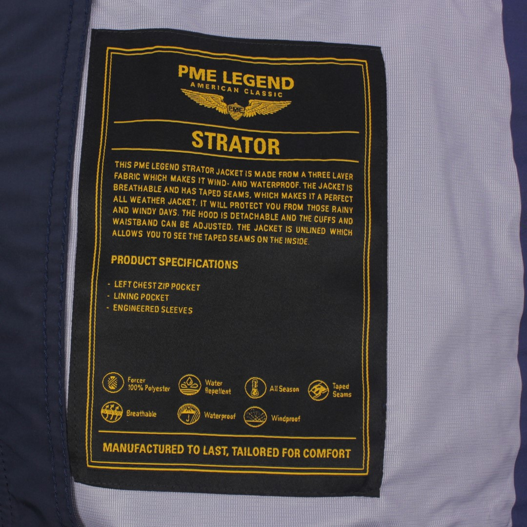 PME Legend Herren Jacke Zip Jacket Strator 1.0 blau PJA211126 5287