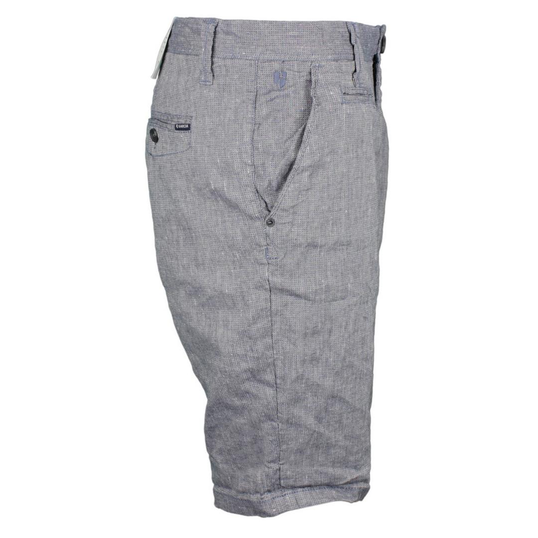 Garcia Herren Chino Leinen Short grau blau Unifarben C91379 3295 Slate