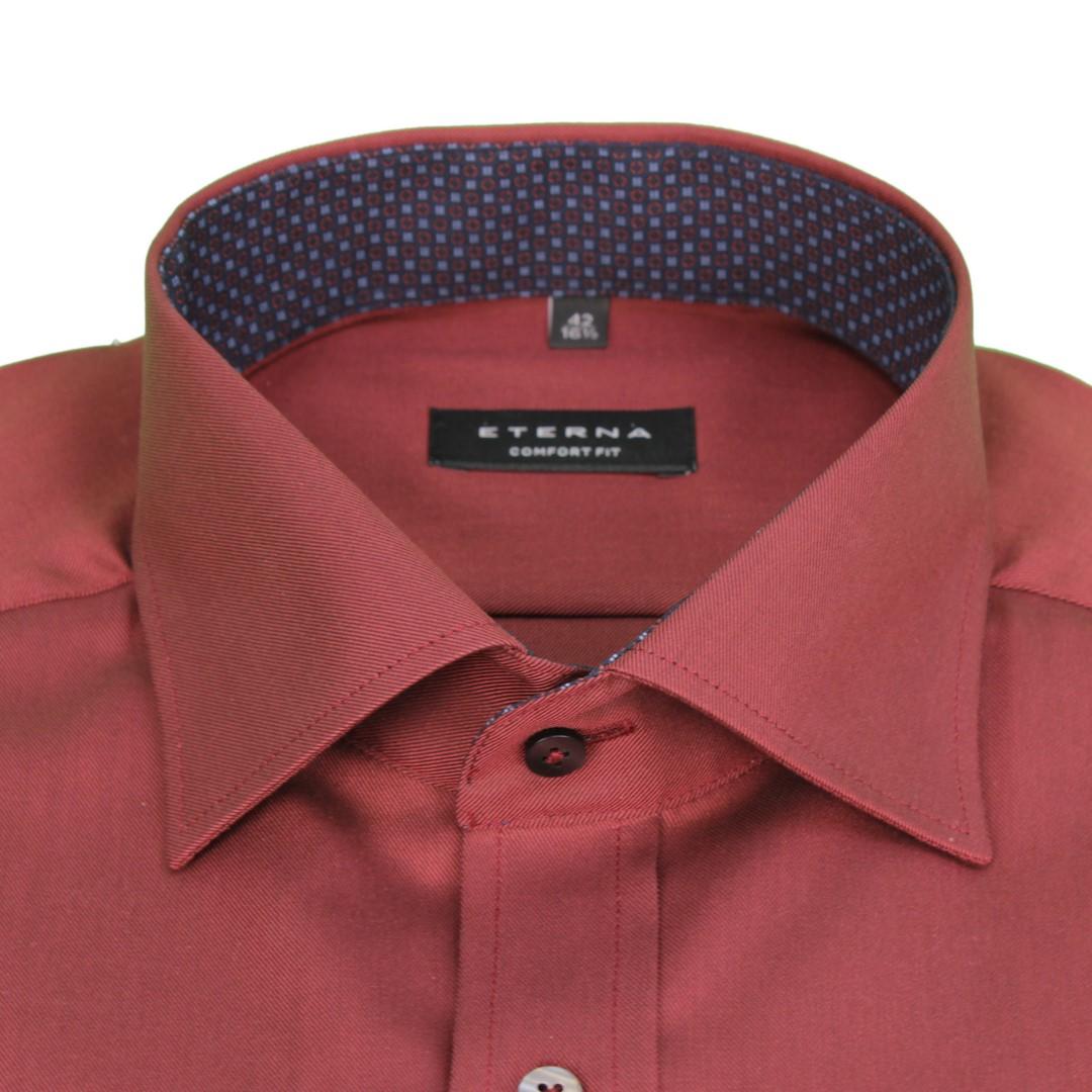 Eterna Herren Business Hemd Comfort Fit Bordeaux rot Uni Unifarben 8900 E147 55