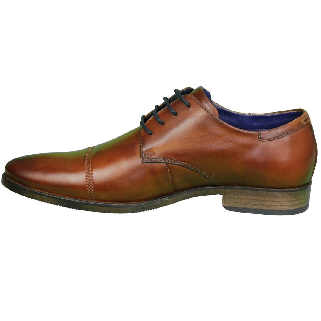 Bugatti Herren Schuhe Schnürschuhe Cognac braun 312 97201 2100 6300 congnac