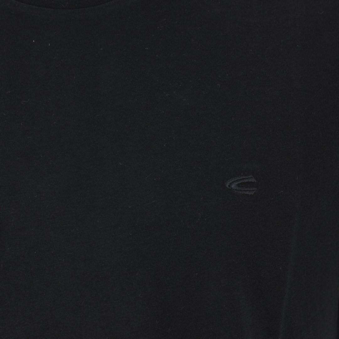 Camel active Herren T-Shirt Rundhals Basic schwarz unifarben 9T19 409438 39