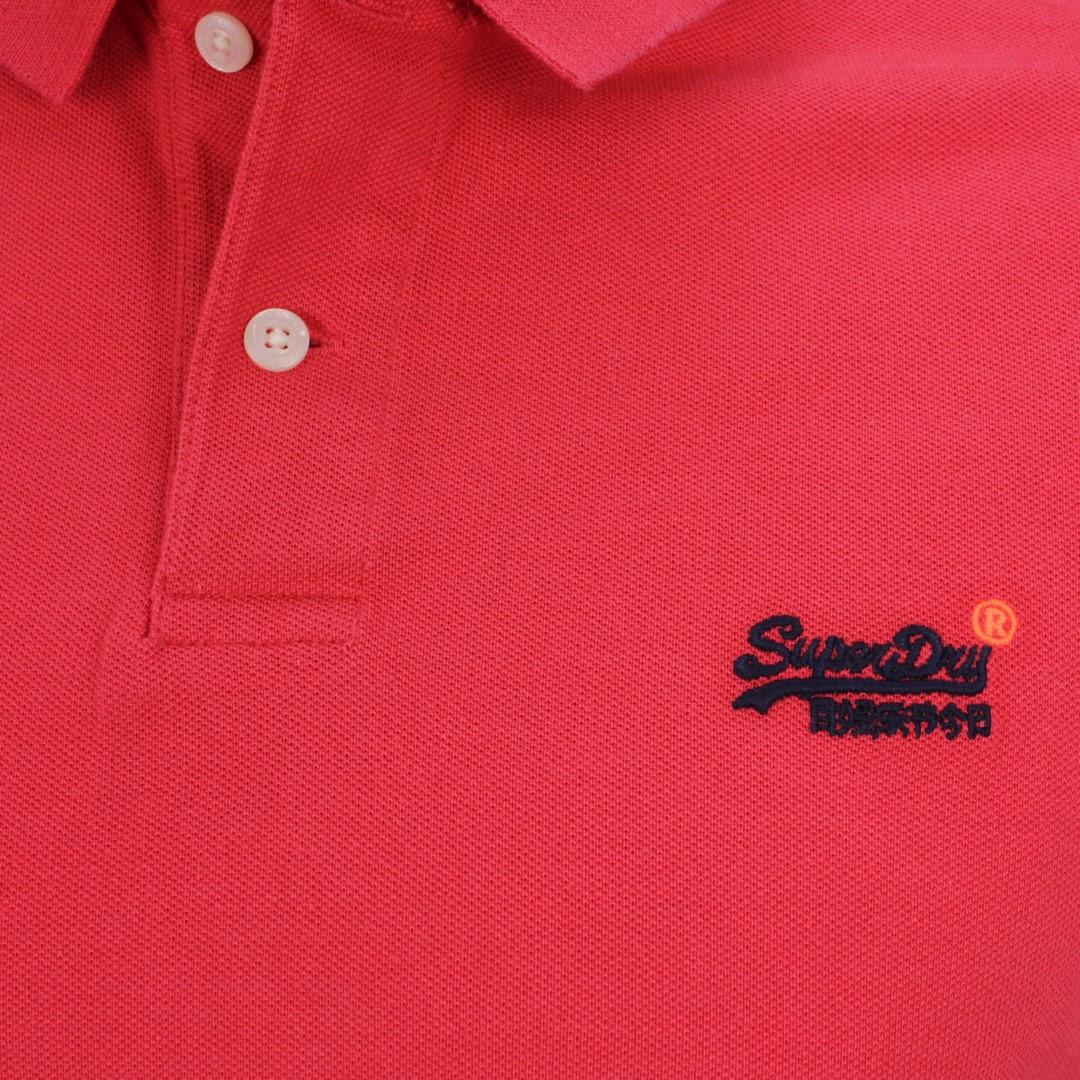 Superdry Herren Polo Shirt Classic Pique Polo rot M1110004A 3AW grapefruit