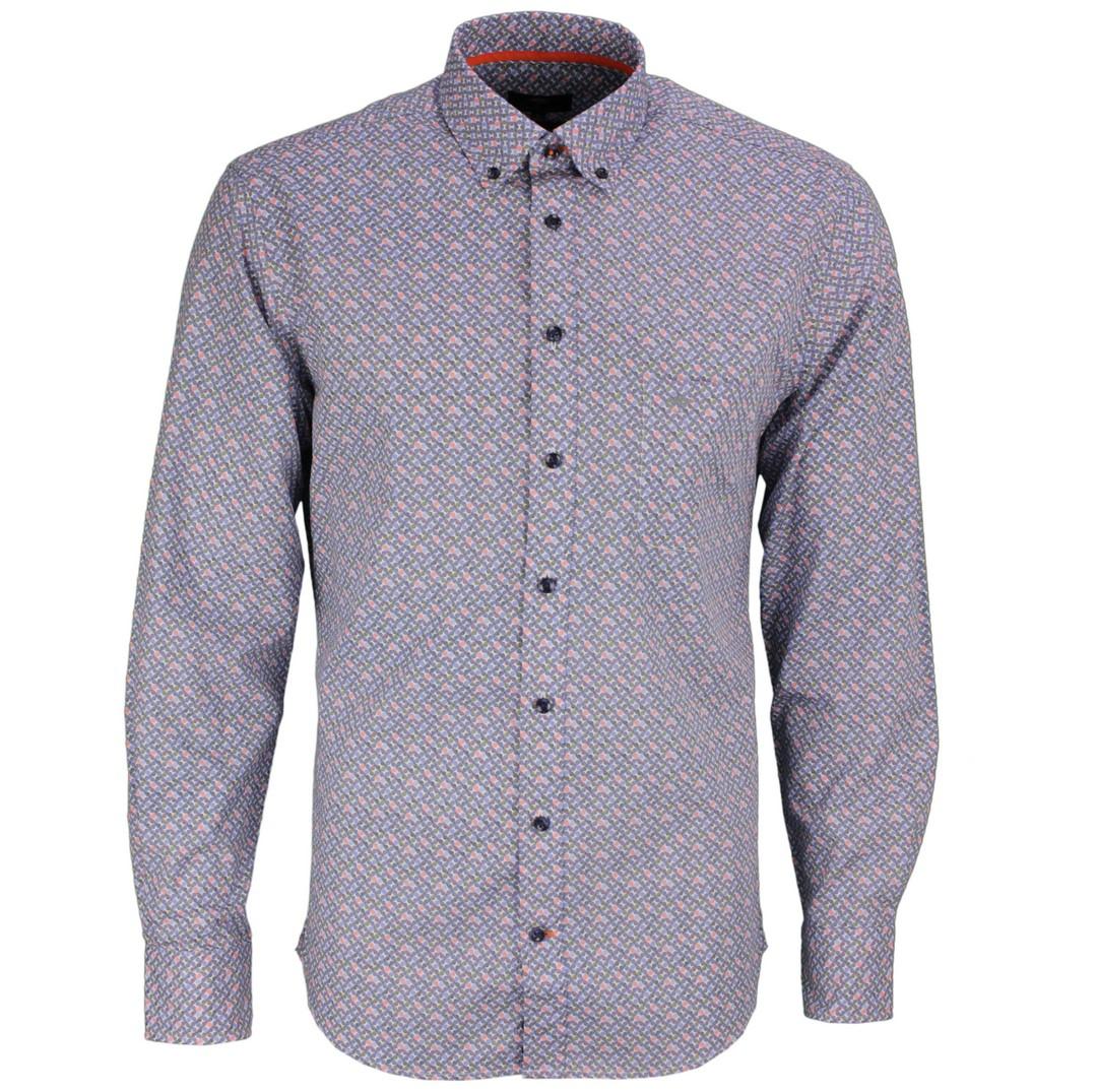 Fynch Hatton Freizeit Hemd mehrfarbig gemustert 11216090 6092 colourful graphics