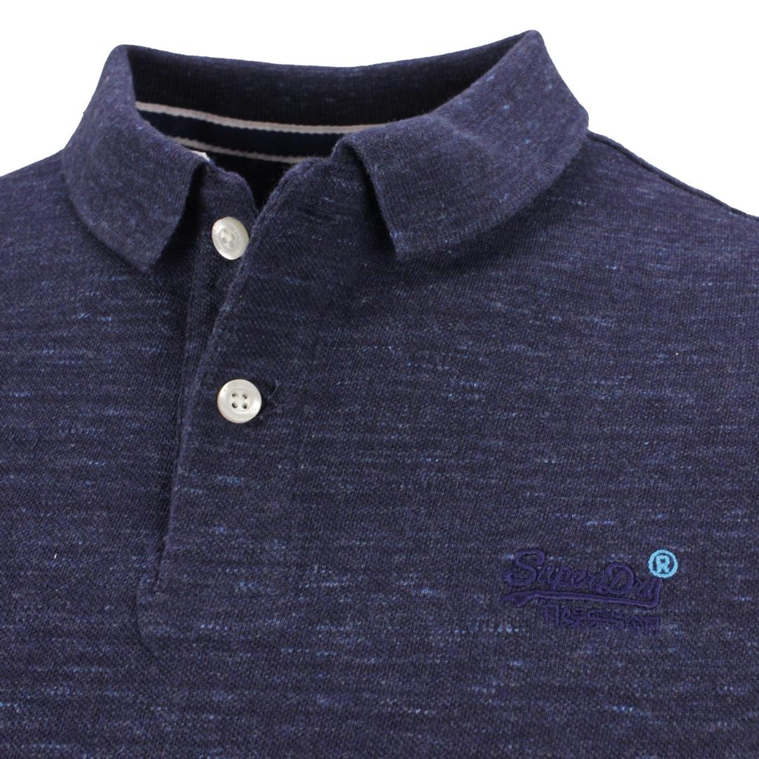 Superdry Polo Shirt Classic Pique Polo blau M1110004A UJ1 Montana Blue Grit