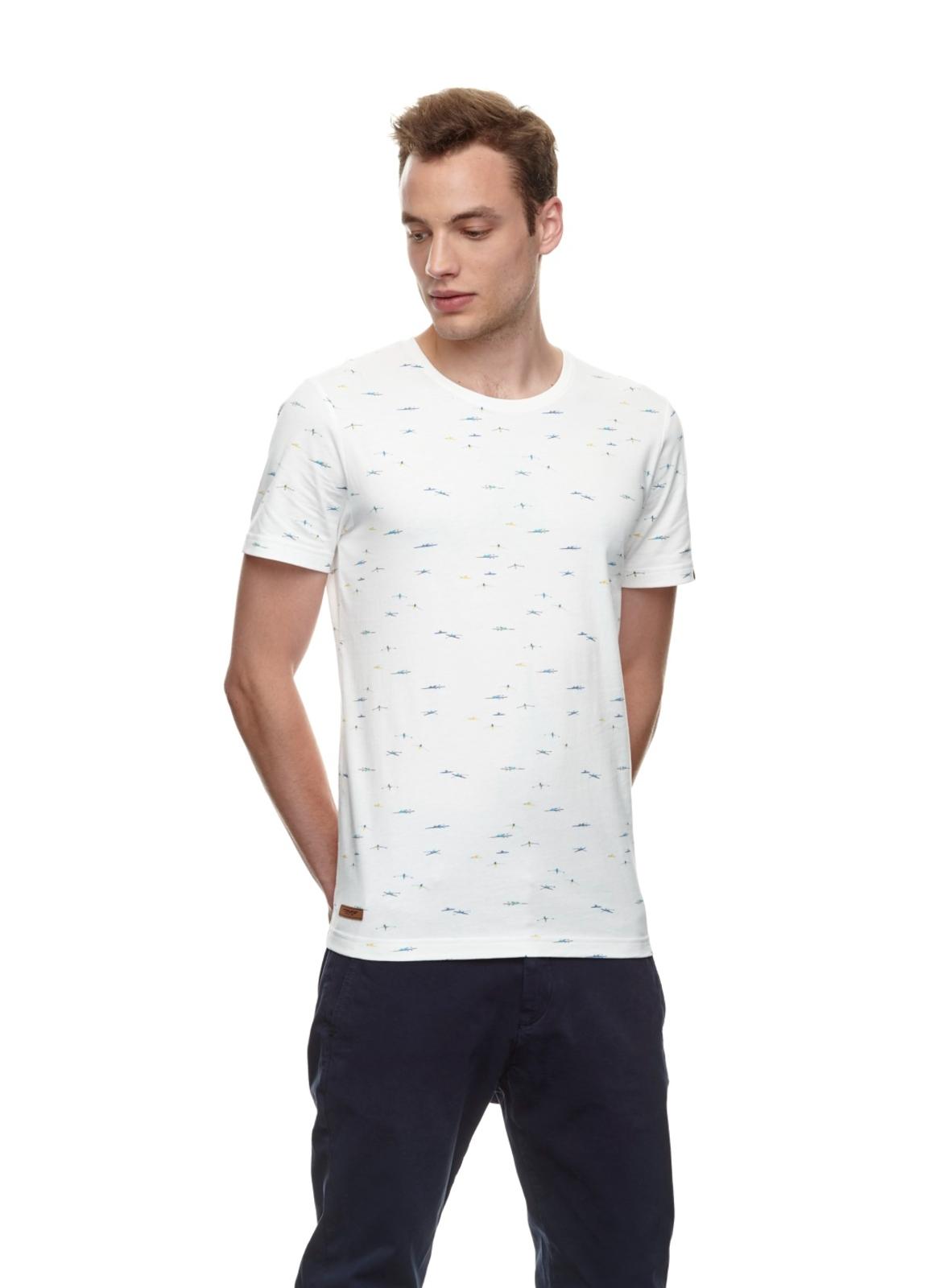 Ragwear Herren T-Shirt Taylor weiß Allover Print 2112 15010 7000 white