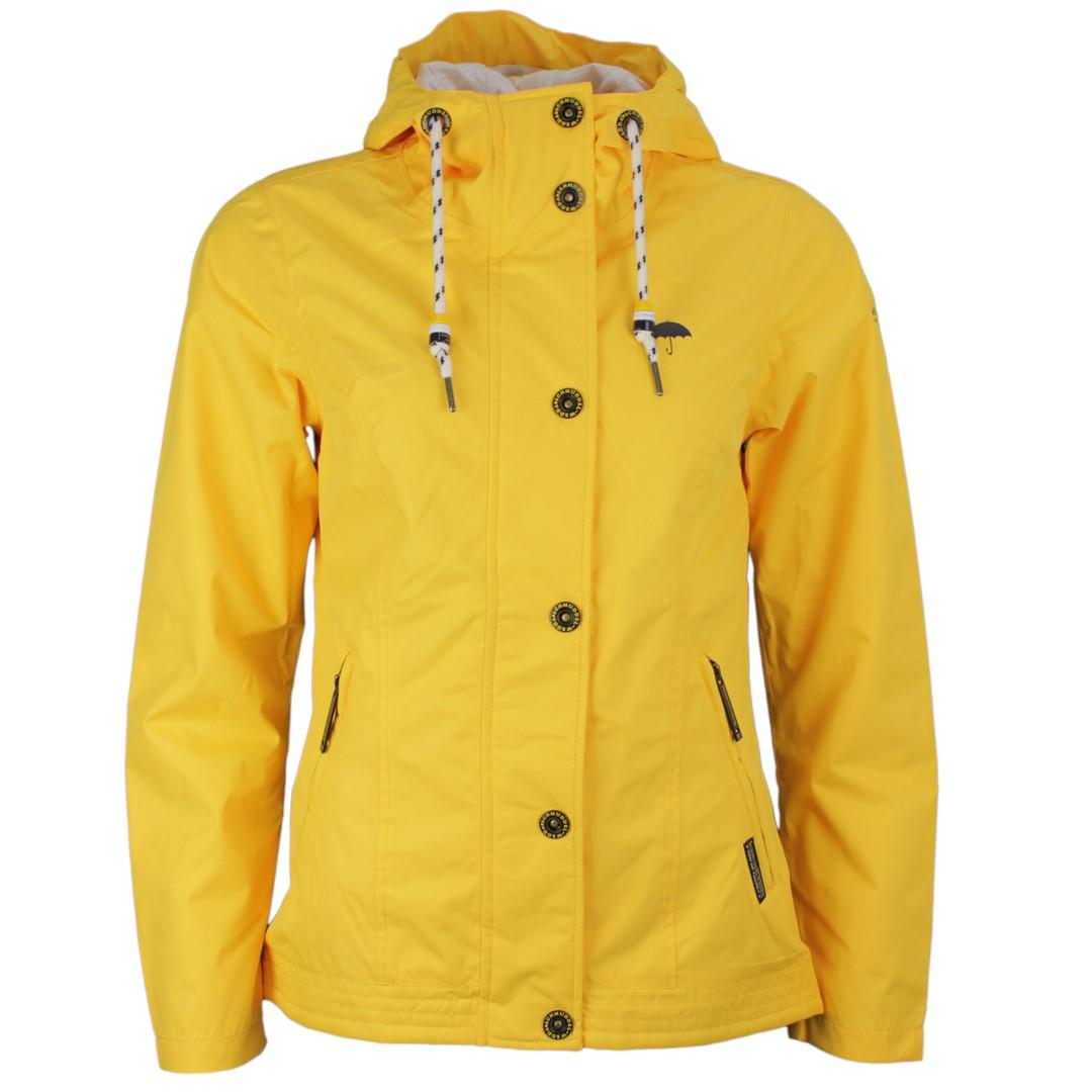 Schmuddelwedda Damen Jacke Regenjacke gelb unifarben 34304264 gelb