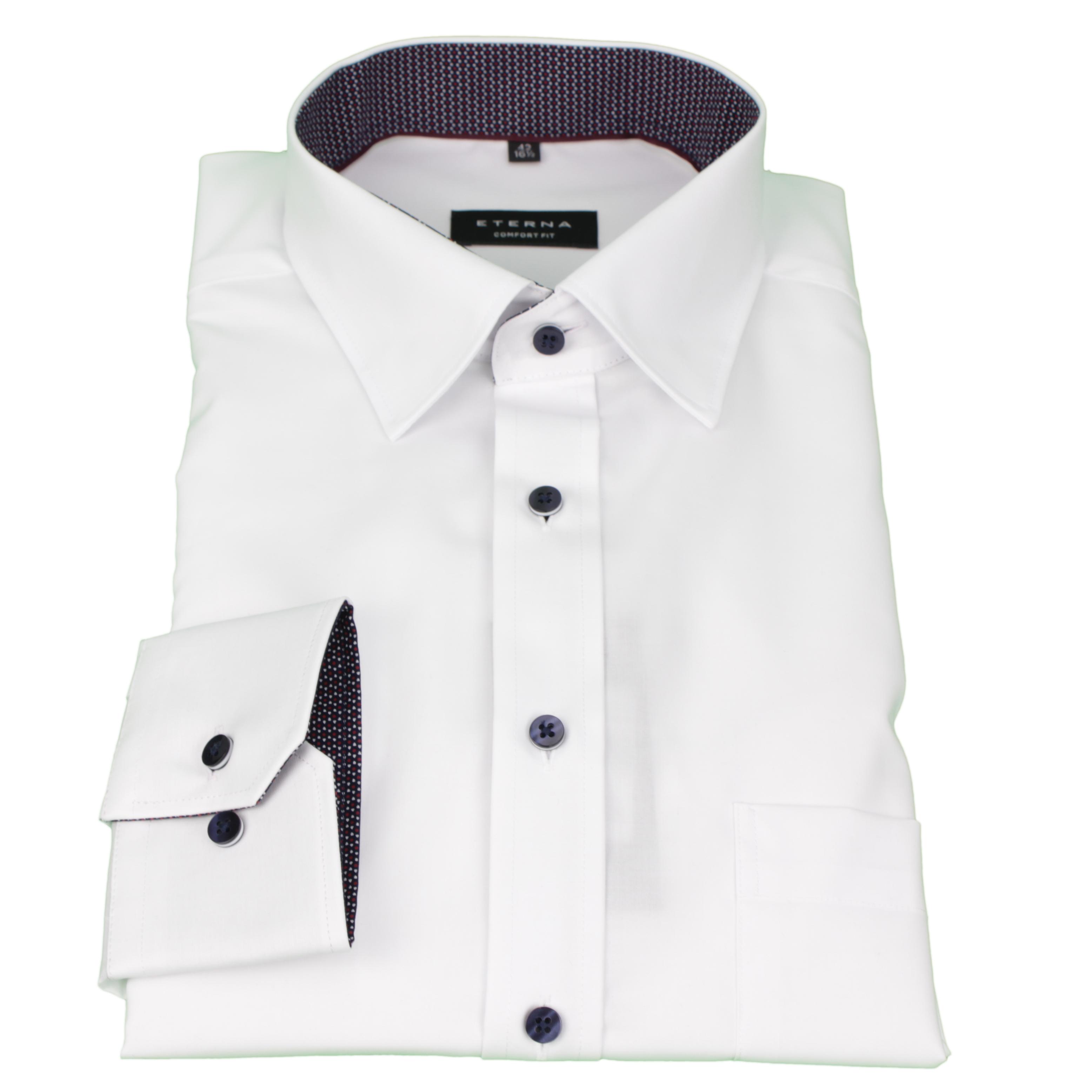 Eterna Herren Hemd Comfort Fit weiß Uni 8501 00 E14X