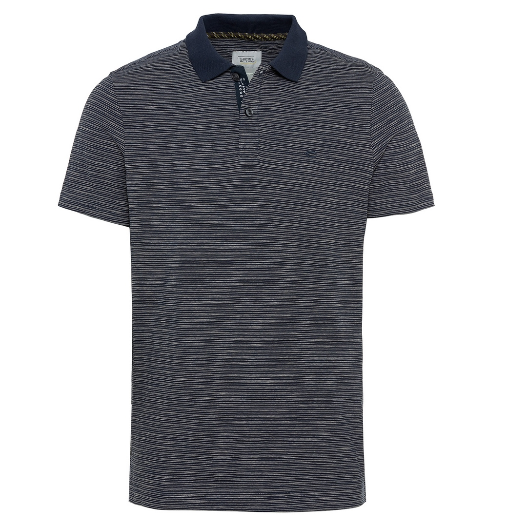 Camel active Herren Polo Shirt blau gestreift 5P18409465 47